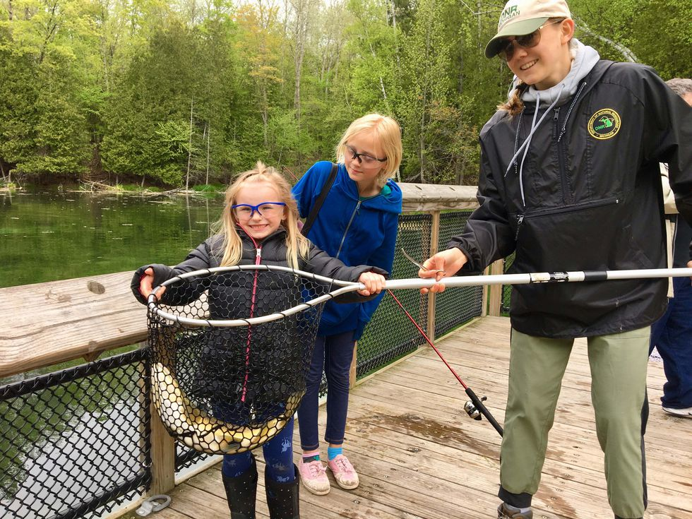 Visitor experiences at Oden State Fish Hatchery in Emmet County were expanded in 2012 through a...