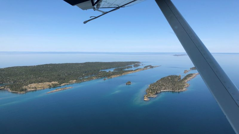 FILE. Approaching Isle Royale National Park with Isle Royale Seaplanes.