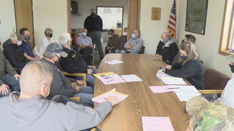 Many were in attendance at the Gogebic-Iron County Airport board meeting Monday, May 10, 2021.