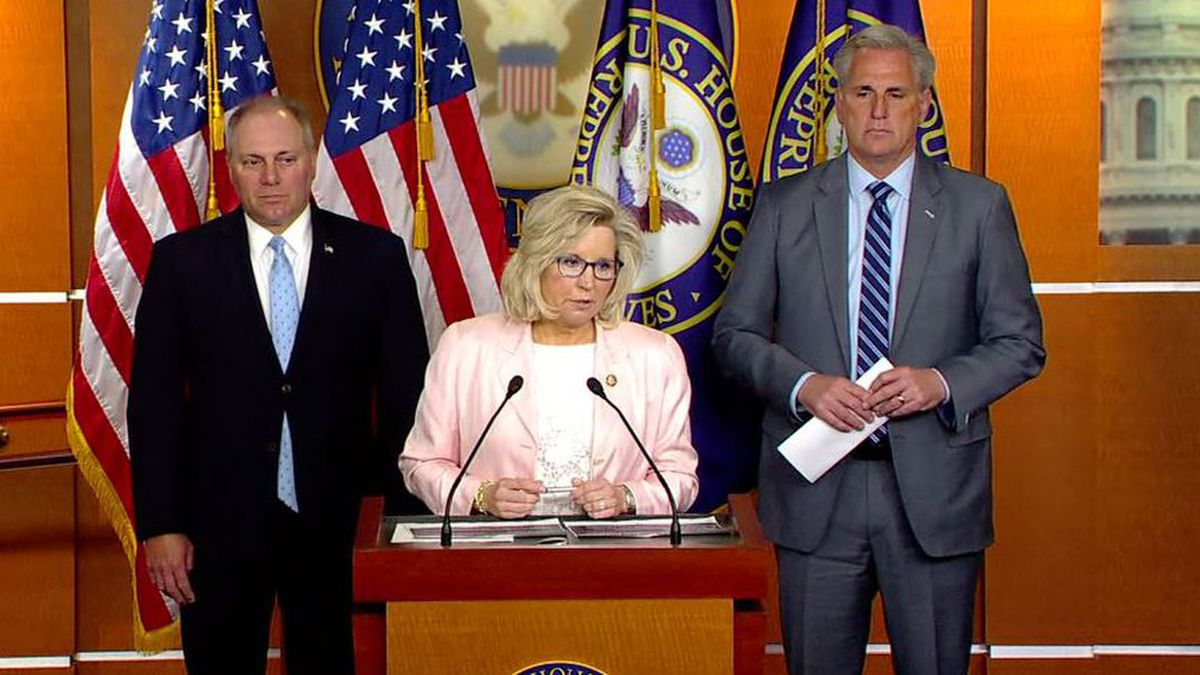 House Republicans ousted Rep. Liz Cheney from her post as the chamber's No. 3 GOP leader on...