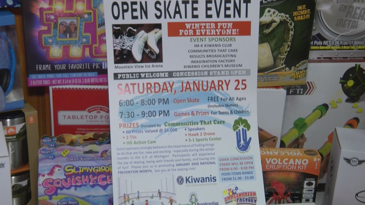 The 'Prevention Palooza' and open skate takes place on Saturday, Jan. 25th, at Mountain View Ice Arena from 6-to-9:30 p.m. central time. (WLU Photo)