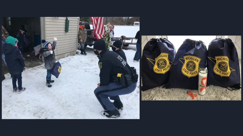 On Jan. 27, 2021, MSP troopers from the Rockford post stopped to visit with  5-year-old Aubree,...