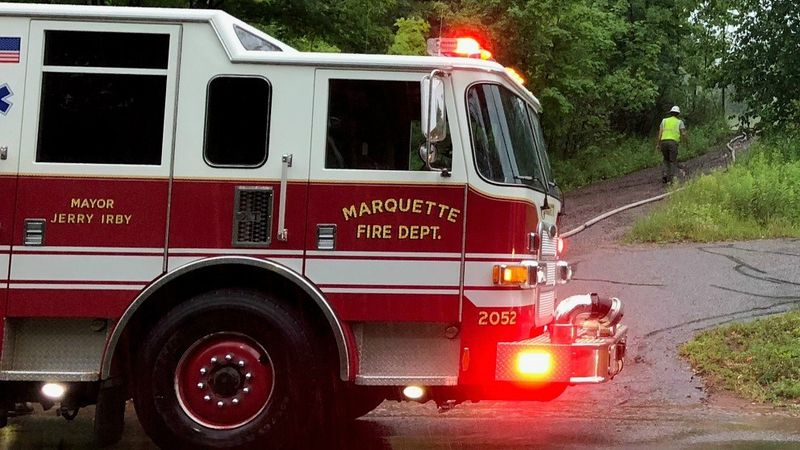 Marquette Fire Department truck.