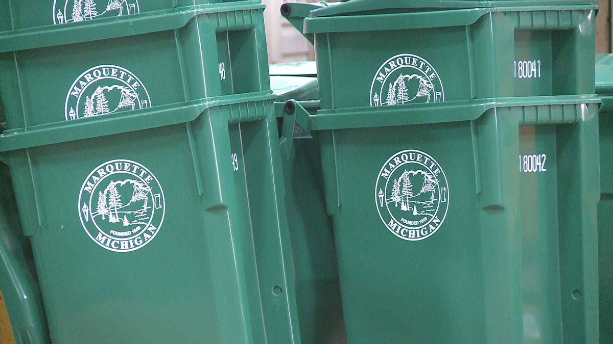 Marquette recycling bins