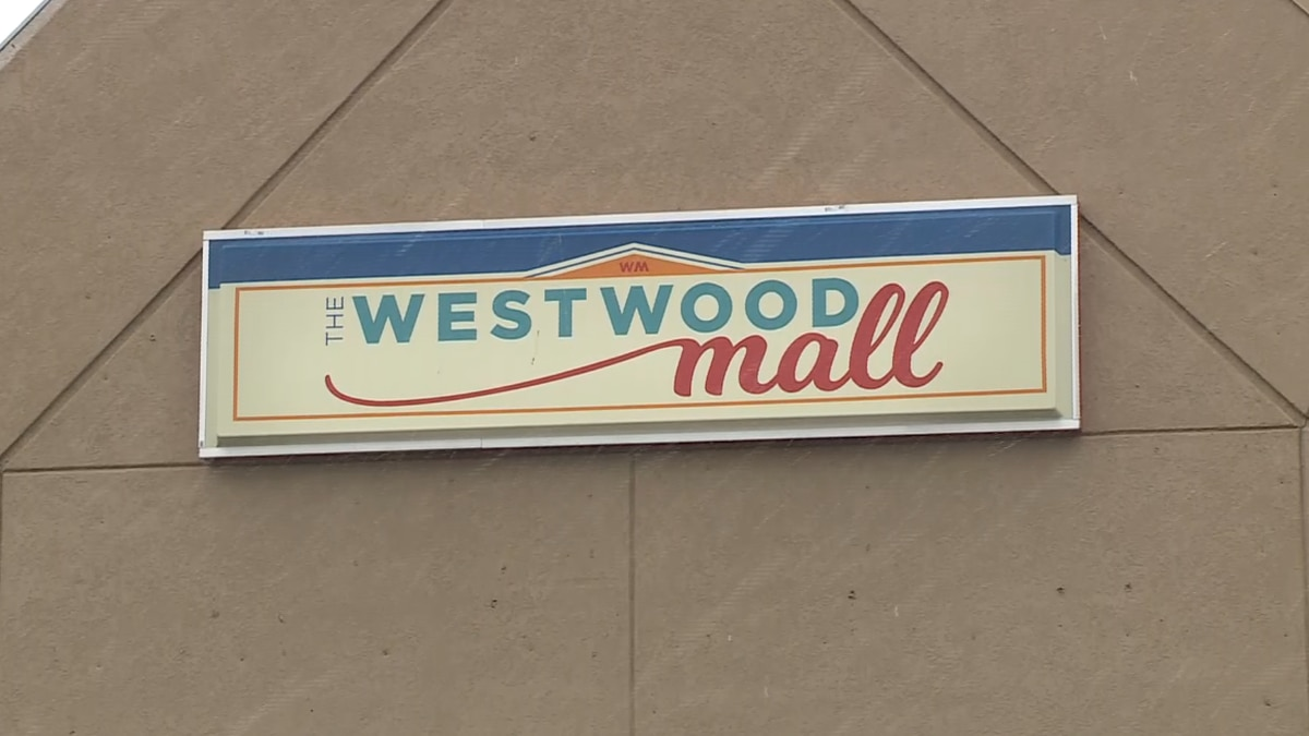 The sign outside the Westwood Mall in Marquette Township