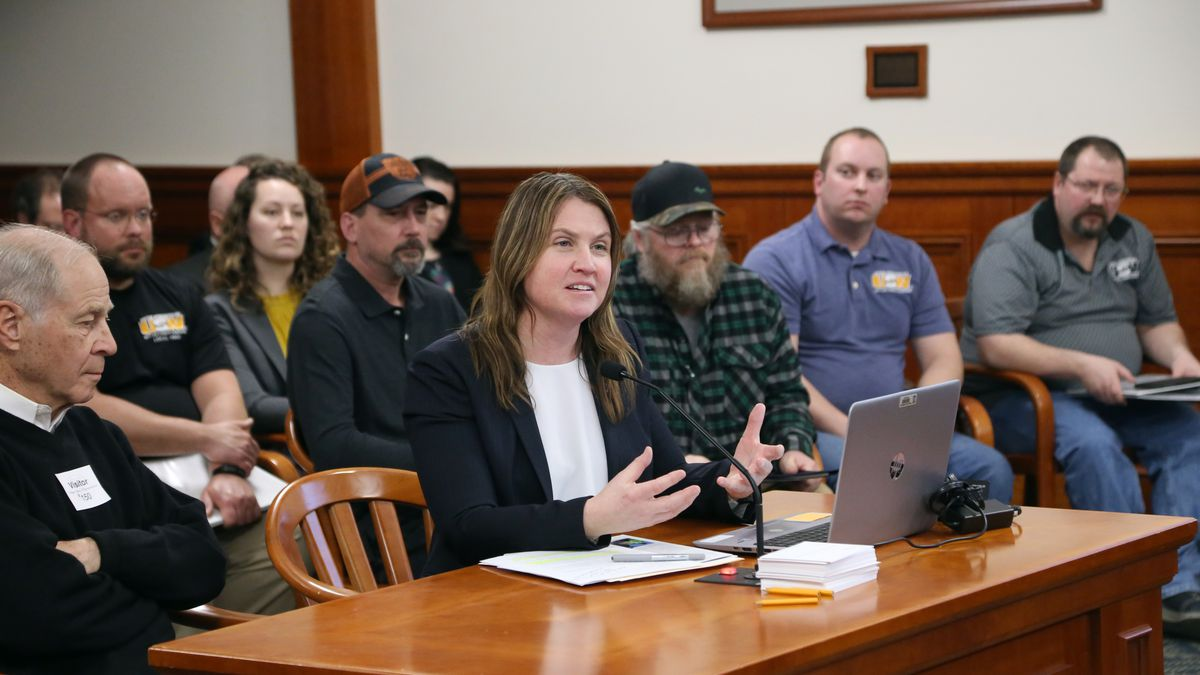 Photo courtesy: Michigan House Democrats; State Rep. Sara Cambensy (D-Marquette) testifying in support of her House Bill 4227 before the House Committee on Natural Resources and Outdoor Recreation in Lansing on March 19, 2019.