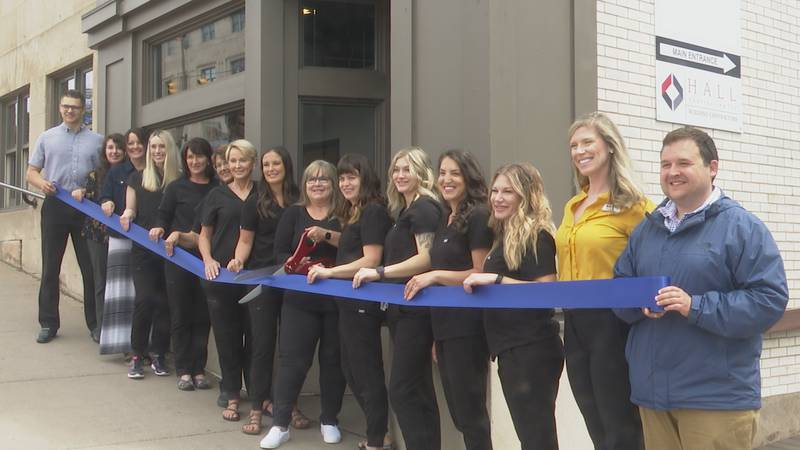 Lakeshore Skin and Body celebrated moving to a new location in Marquette with a ribbon cutting.