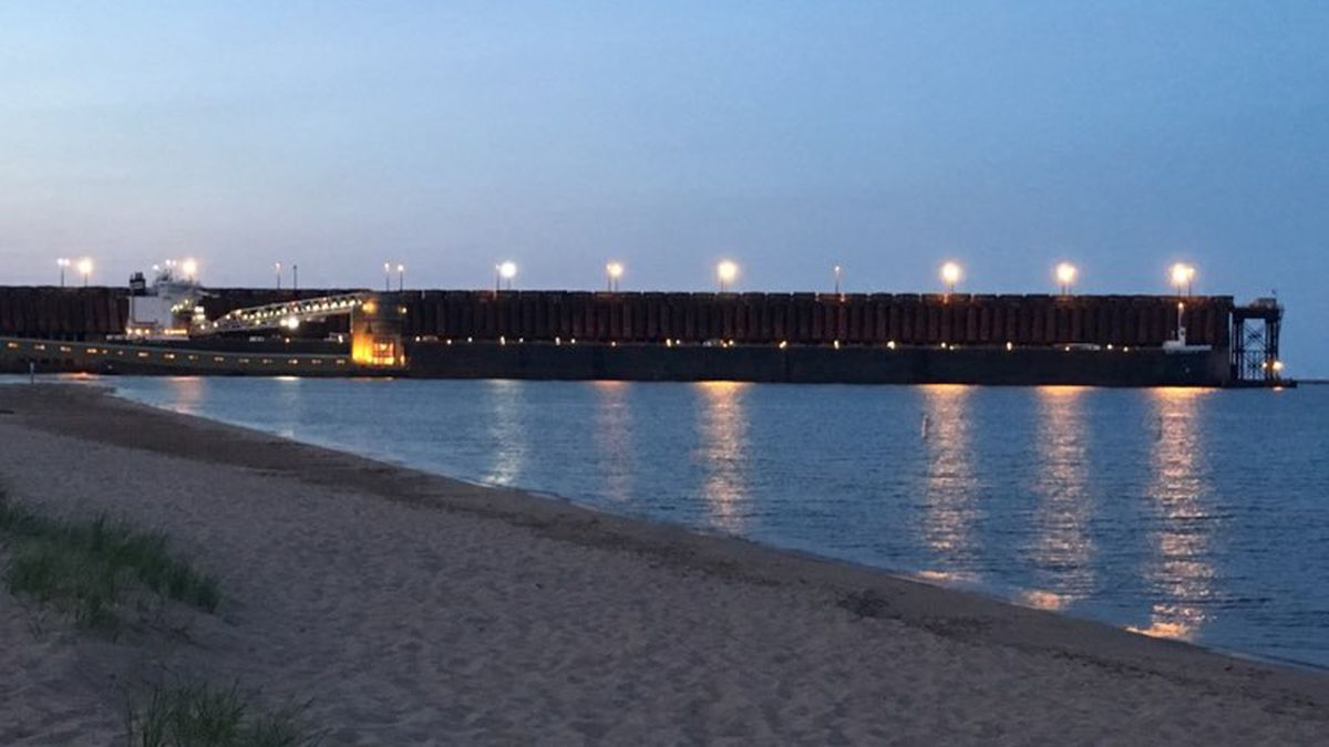 FILE. An evening look towards the Upper Harbor Ore Dock, right where the Dead River flows into...