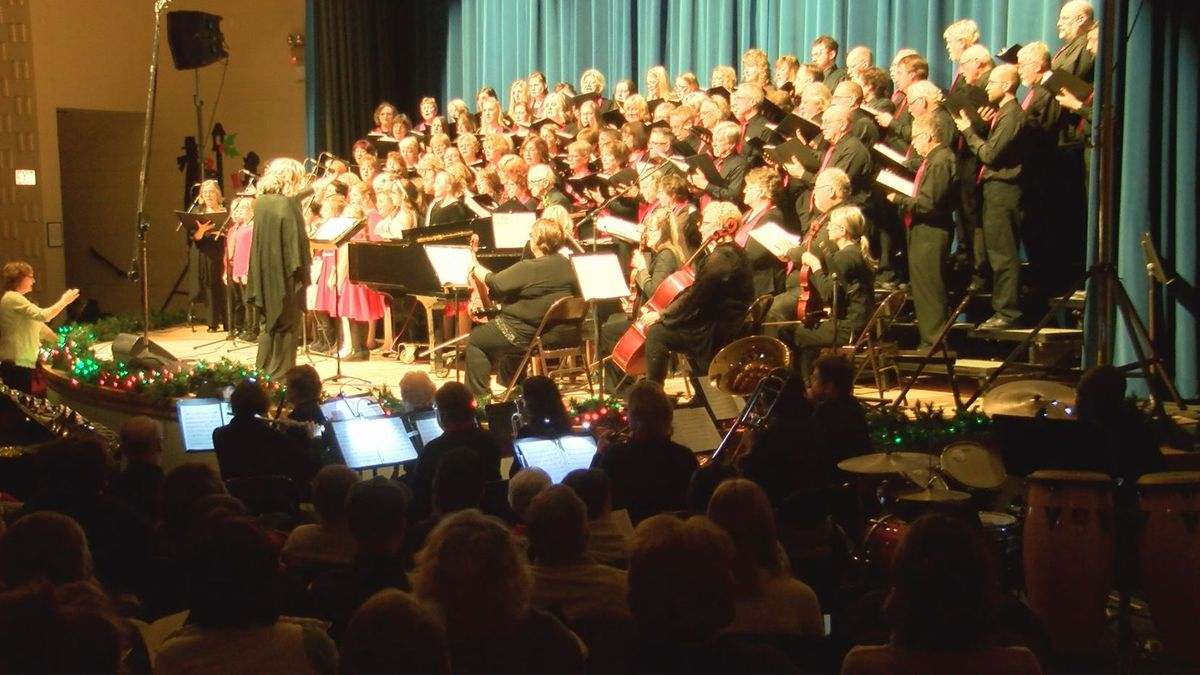 Dickinson County Community Chorus sings with the children's chorus at the annual 'Sounds of Christmas' show. (WLUC Photo)