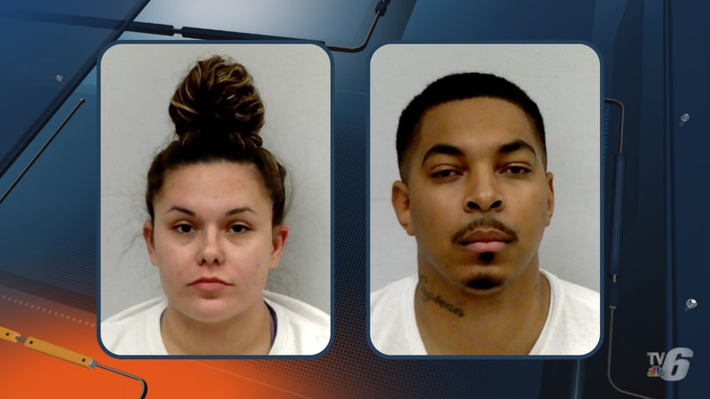 Mugshots for Krishell Harmon and Marquis Williams.