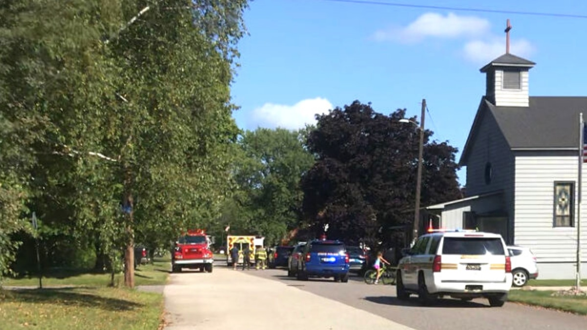 A viewer photo showing emergency personnel responding to the pedestrian/vehicle incident in...