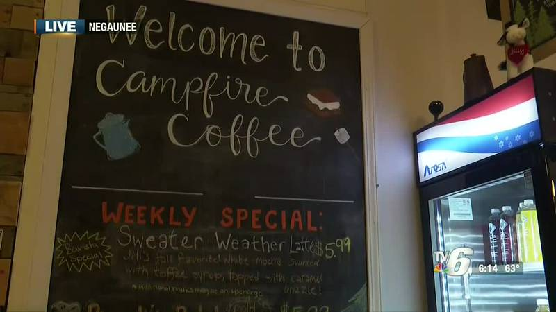 Coffee shop in downtown Negaunee