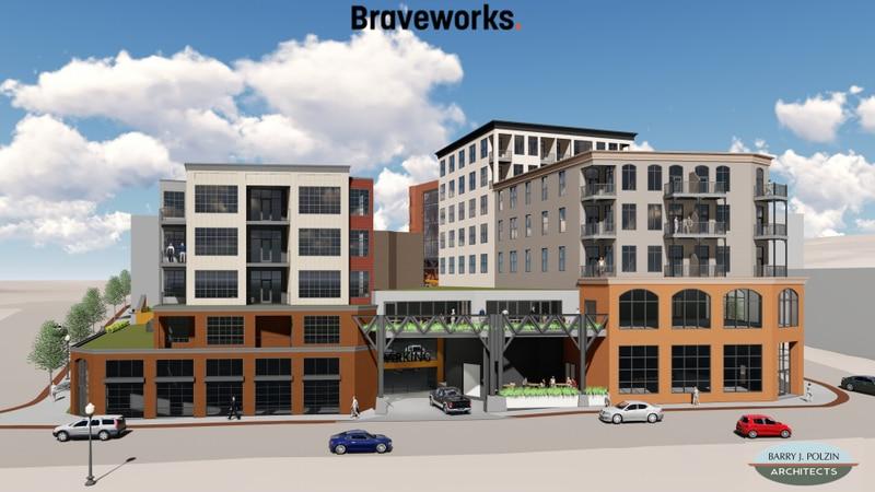 Braveworks old Savings Bank Building project rendering.