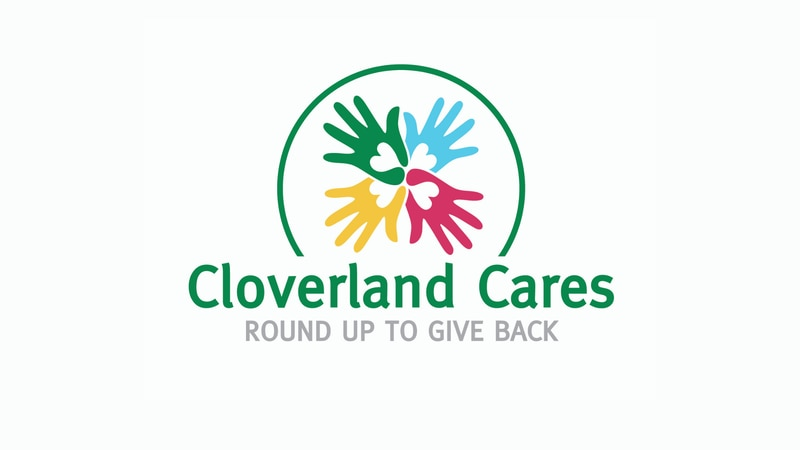 Logo for Cloverland Cares, the non-profit foundation of Cloverland Electric Cooperative in the...