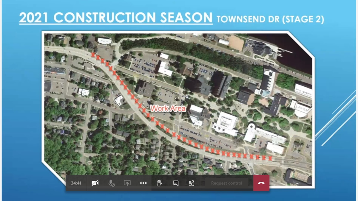 A map showing some of the work planned for US-41 through Houghton this spring and summer