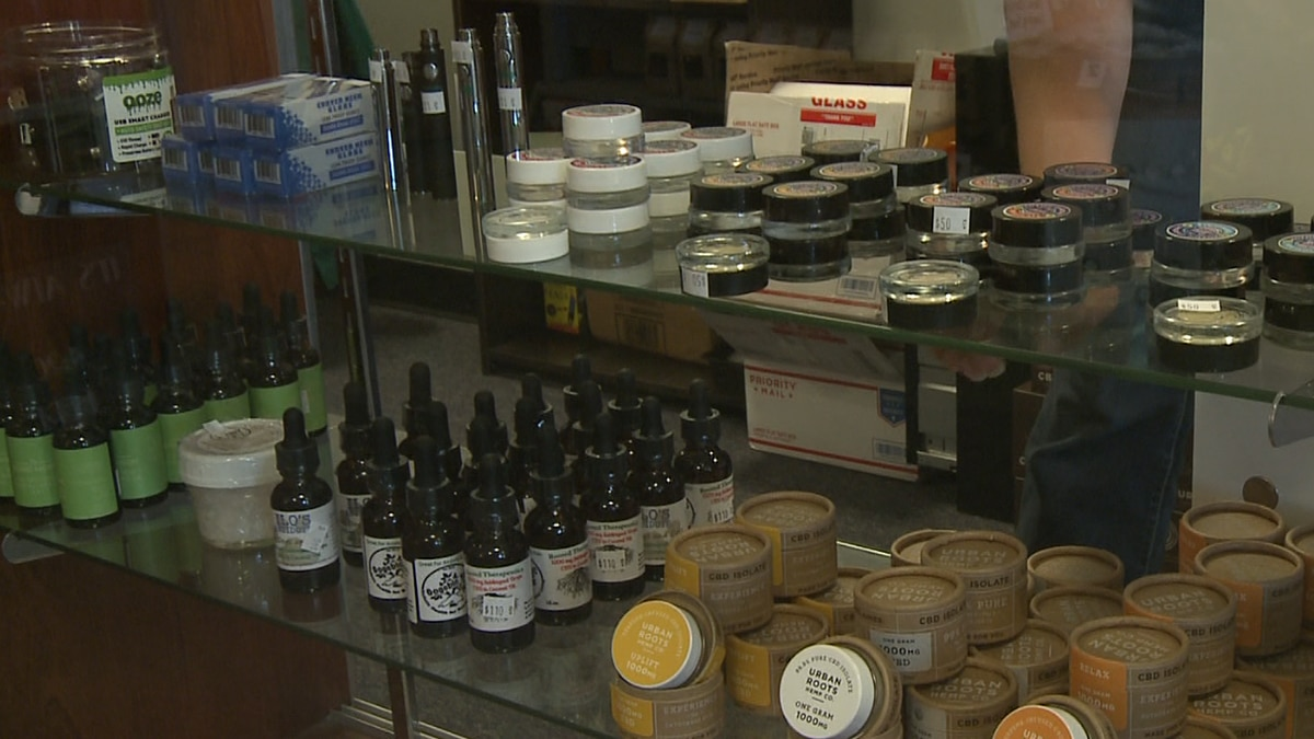 An array of CBD products available at Northern Specialty Health in Houghton.