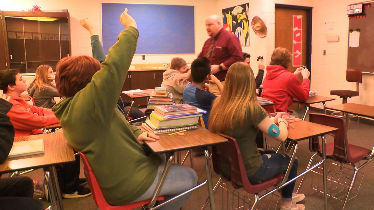 Westwood High School students continue education in Spanish class.