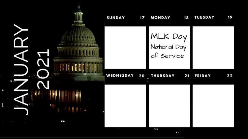 Busy week: MLK, COVID memorial, inauguration