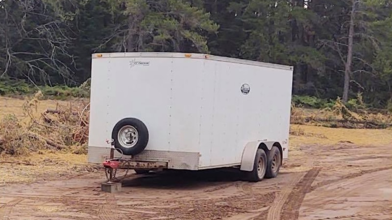A trailer stolen between Friday, Oct. 1 and Saturday, Oct. 2.