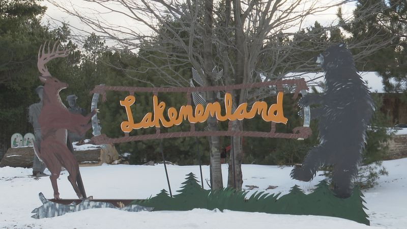 The ice rink on the pond at Lakenenland will be open 24/7 for the public to use.