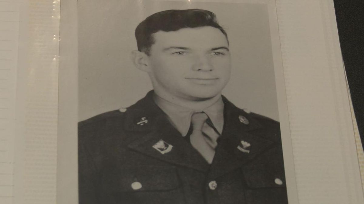 A photo of Wesley Loosemore during his time in the service