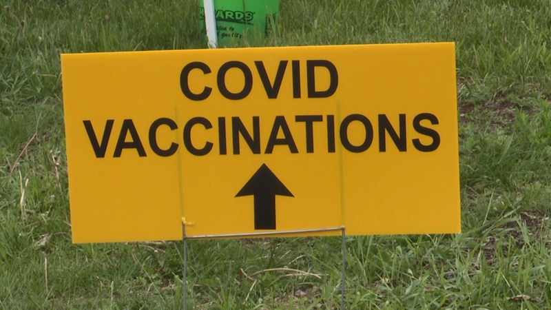 FILE. MCHD vaccinations sign.
