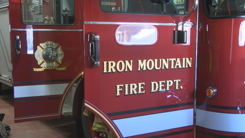 A file photo of an Iron Mountain Fire Department fire engine.