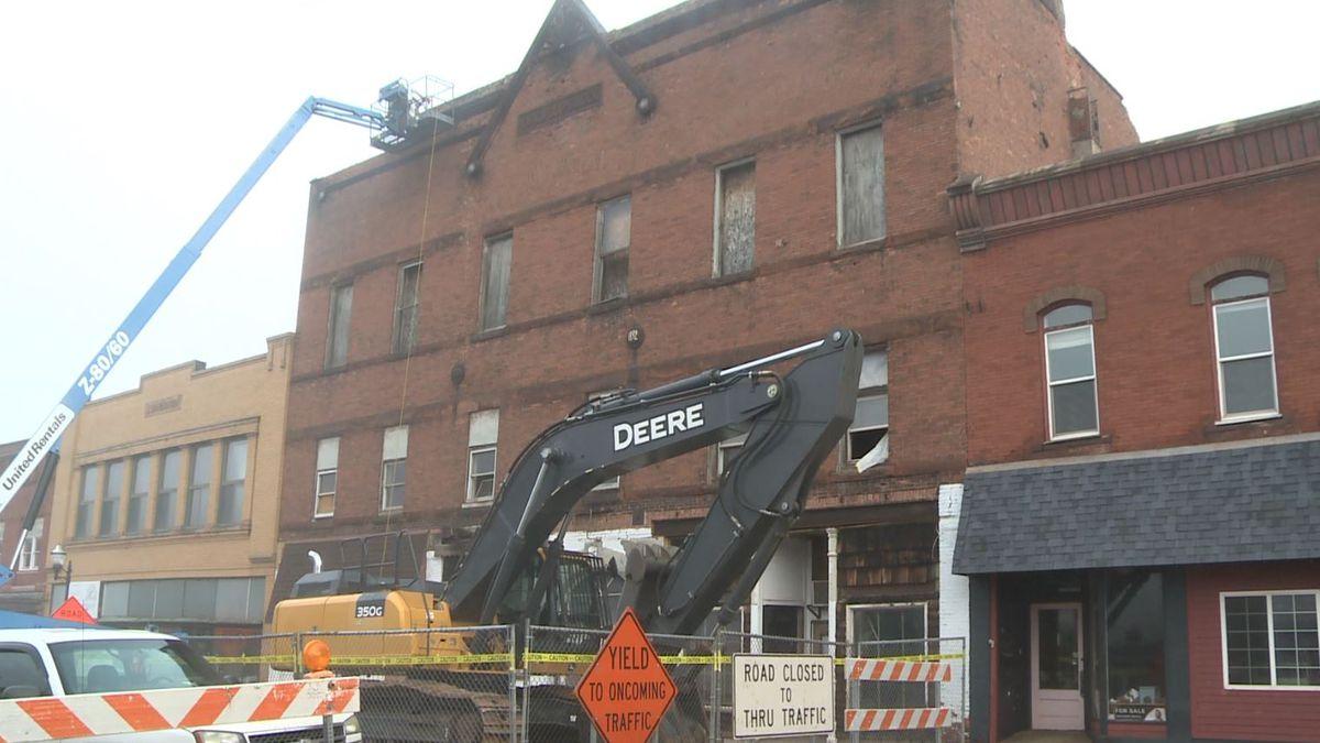 FILE. Crews work tearing apart Kirkwood Building in 2019.