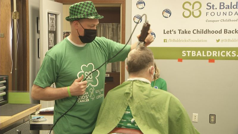 The St. Baldrick's Foundation hosts head shaving fundraisers for childhood cancer research.