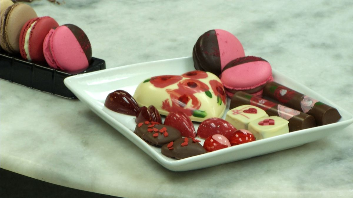 Valentine chocolate variety from Towners Pastry and Chocolate Shoppe. (WLUC Photo)