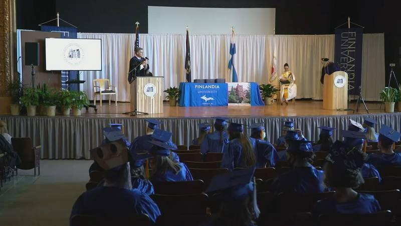 Commencement at Finlandia University, April 29, 2021.