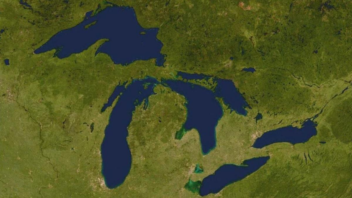 Michigan and Great Lakes map.
