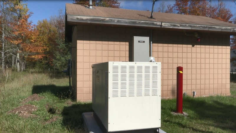 Generator to help power water pumping system and communications tower
