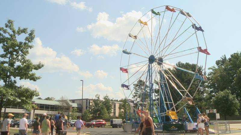 The Ferris wheel runs from 3:00 p.m. - 11:00 p.m. Friday, August 20 and Saturday, August 21.
