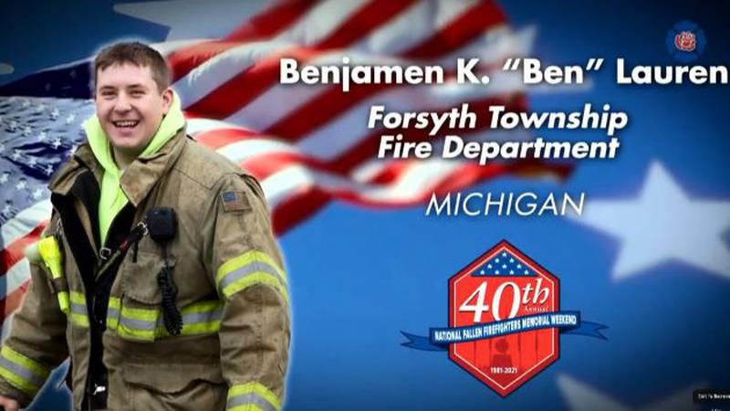 Ben Lauren honored at 40th Annual National Fallen Firefighters Memorial Weekend