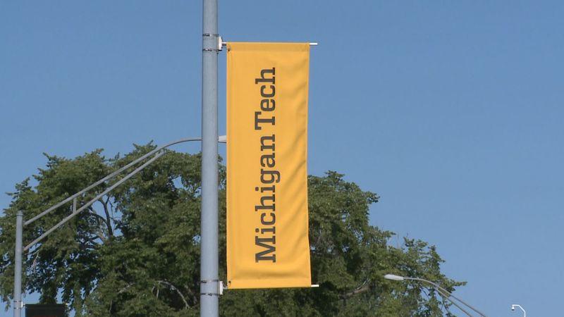 Michigan Tech banner. (WLUC File Photo)