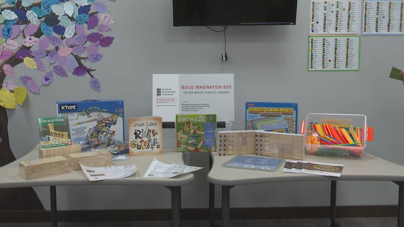 The build imagination box at the Peter White Public Library.