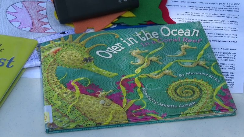 One of the featured books about ocean animals
