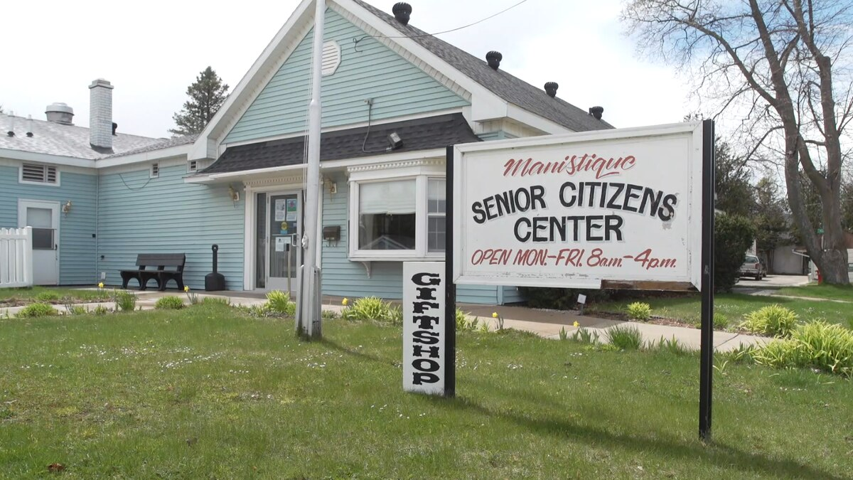 FILE. A May 2021 photo outside the Manistique Senior Center.