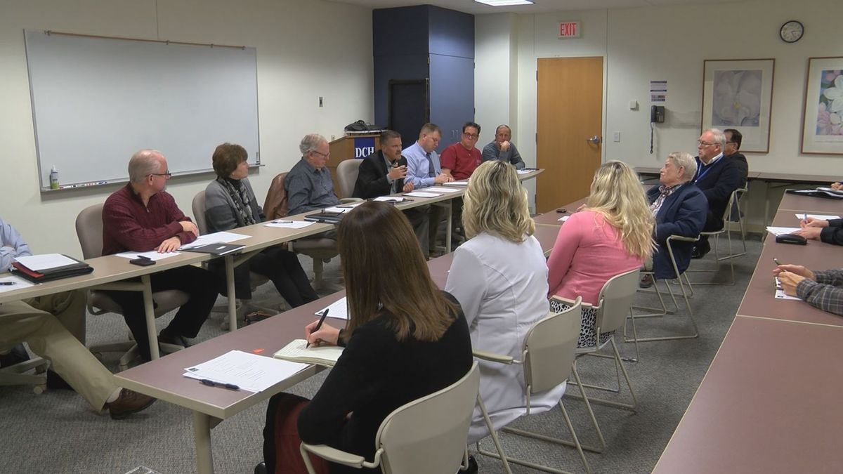 DCHS Board of Trustees holds monthly meeting. (WLUC Photo)