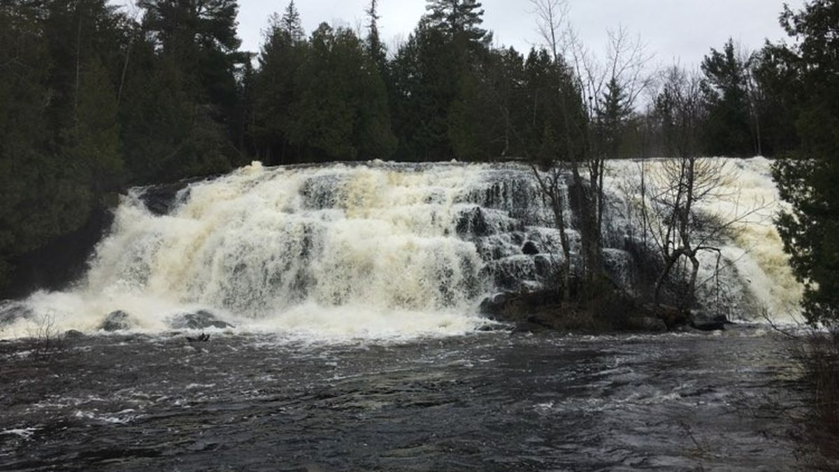 FILE. A photo of the lower falls of Bond Falls.