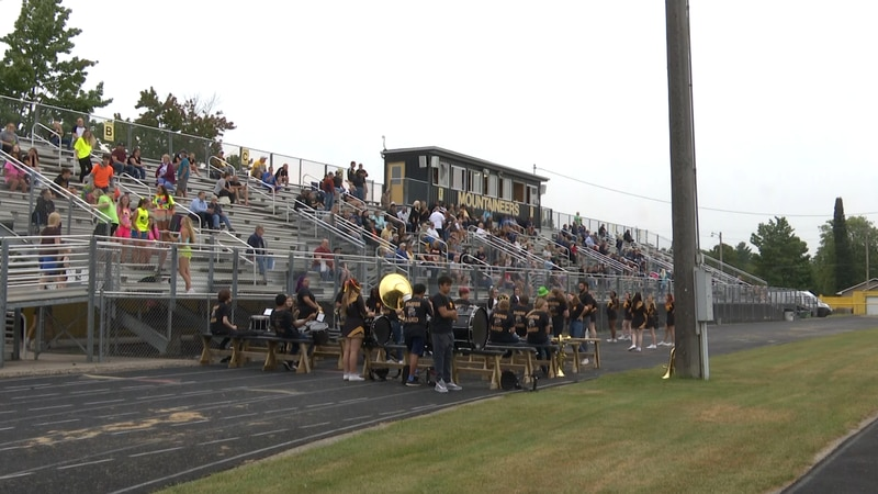 Fans packed the stands for Iron Mountain's home opener