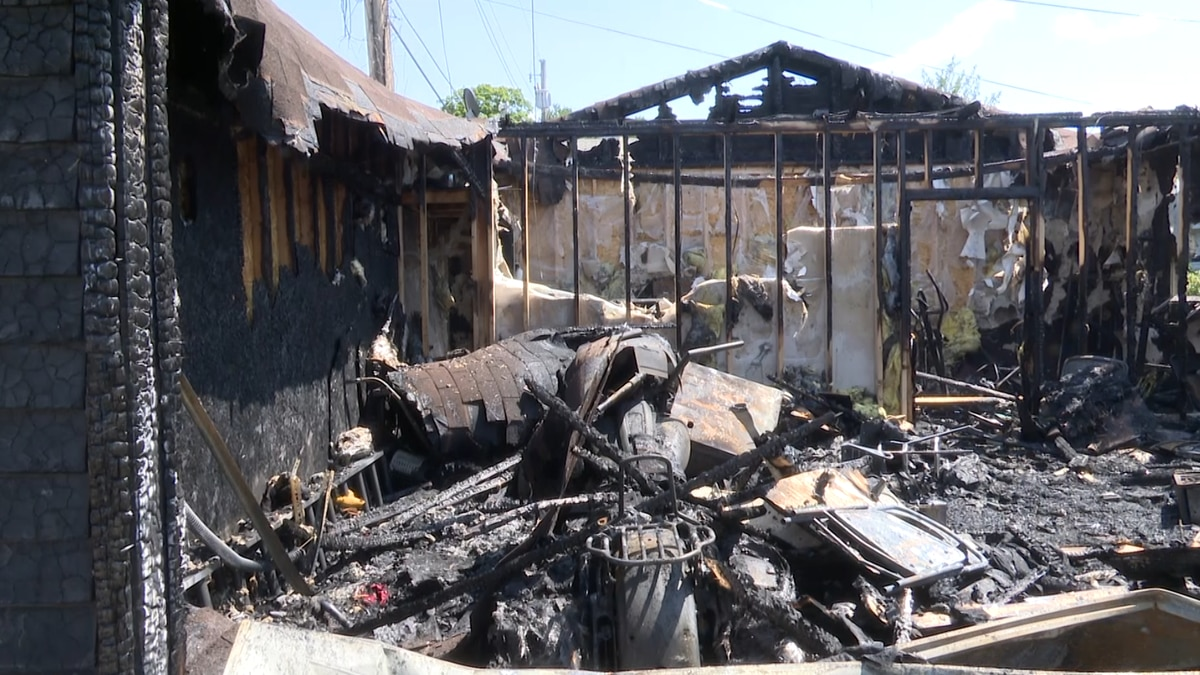 A garage in Kingsford following an overnight fire, in the early hours of Friday, July 30, 2021.