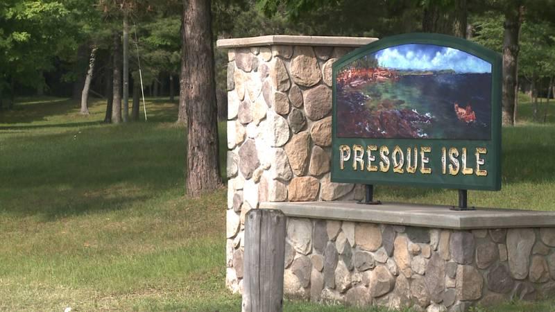 FILE. Presque Isle Park sign.