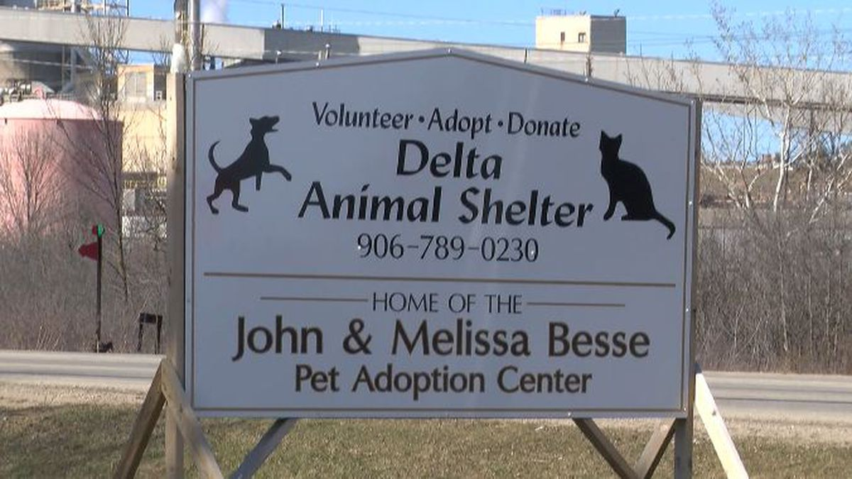 The Delta Animal Shelter, located at 6975 County 426 M.5 Rd. in Wells Township. (WLUC file...