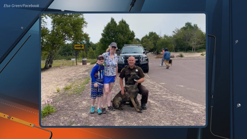 According to a post by Elsa Green on Facebook, Keweenaw County Sheriff's Office K9 Dogo and...