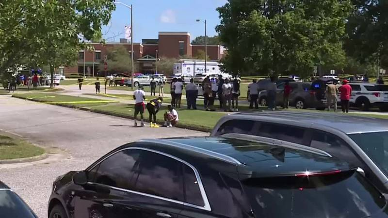 Two 17-year-old students were shot at a Virginia high school, one in the face and another in...