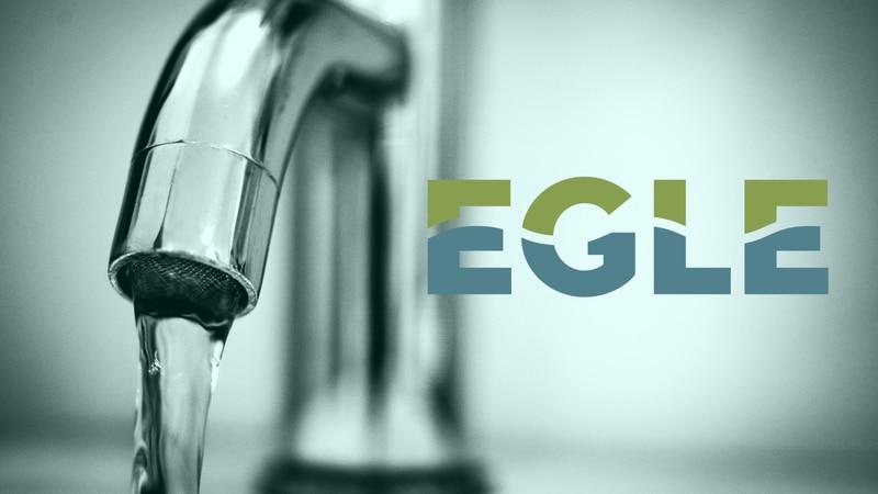 EGLE logo and faucet.