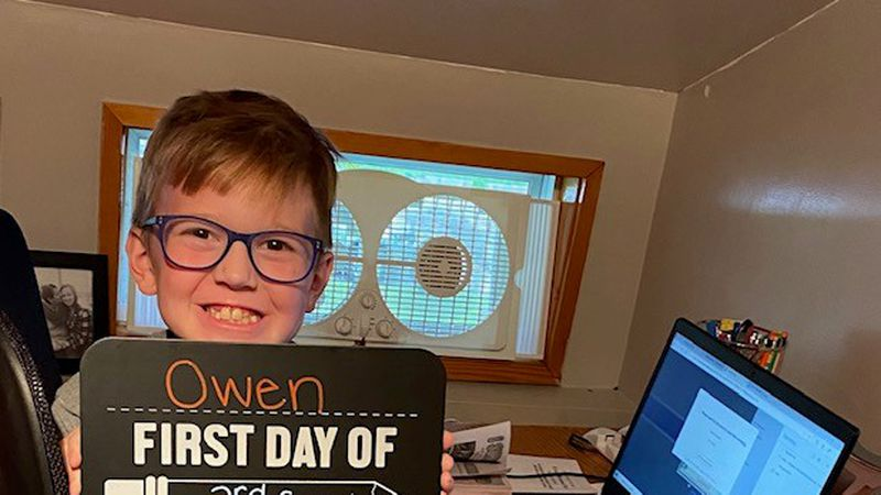 Owen is ready for virtual learning