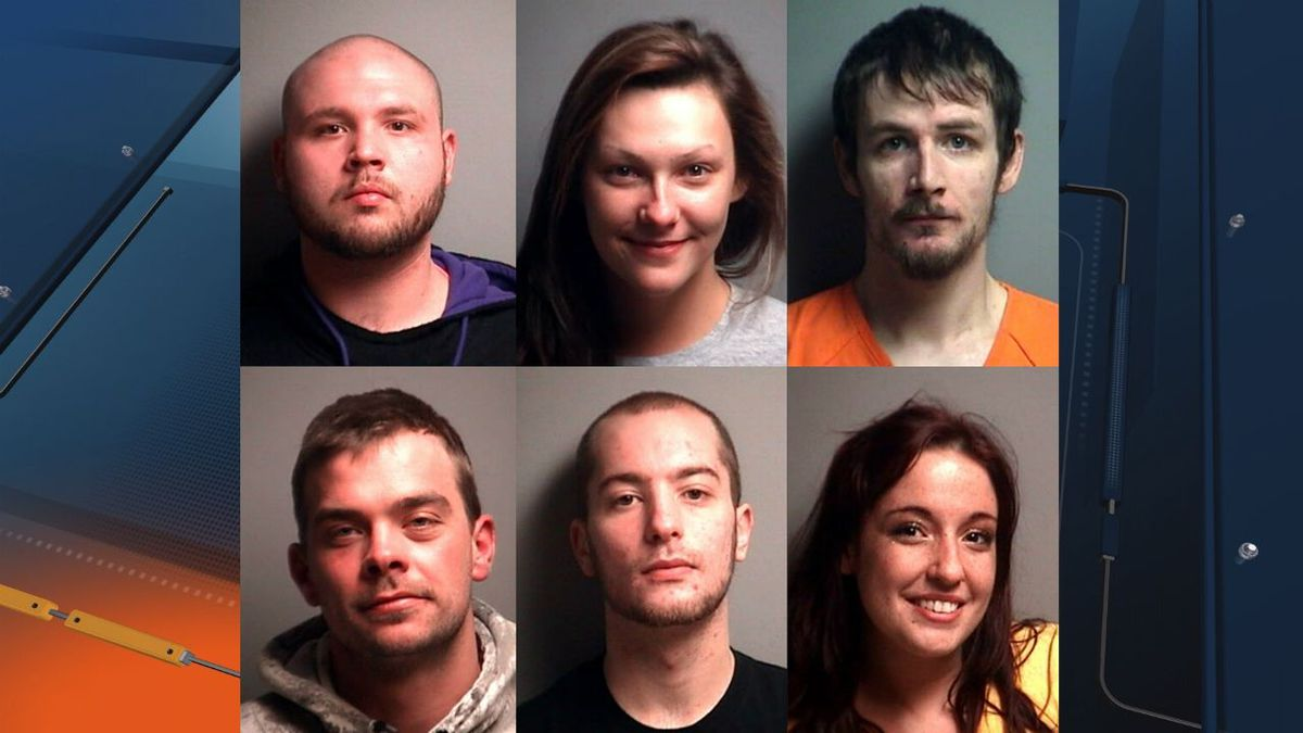 Top row, L to R: Zachary Schnurer, Vanessa Barton and Jon Zentner. <br />Bottom row, L to R: Tyler Henry, Jacob Lockhart and Amanda Pokela.<br />(Mugshots out of Manistique, in Schoolcraft County)